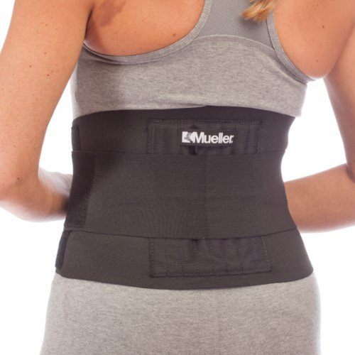 Mueller Adjustable Back Brace, Black, One Size by Mueller