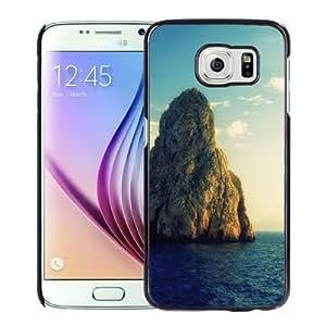 Fashionable Custom Designed S6 Phone Case With Huge Rock Island_Black Phone Case
