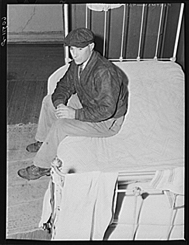 1940 Photo Transient Farm Laborer In Hotel Room Which He Rents For One Dollar And Fifty Cents A Week  Dubuque  Iowa Location  Dubuque  Dubuque County  Iowa