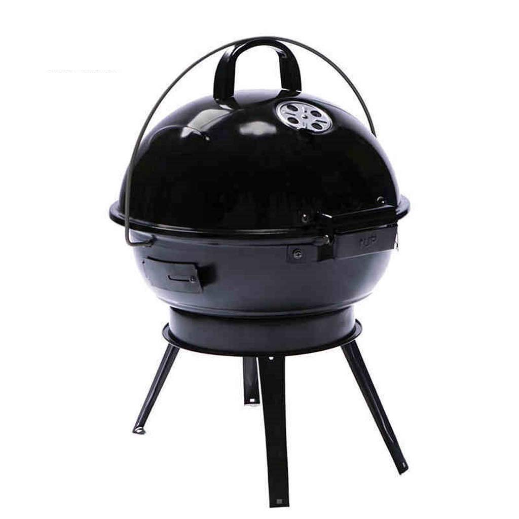 MEI XU Barbecue Grill BBQ Grill - American Car Portable Apple Stove Household Charcoal Grill Enamel Grilled Oven (Color : Black) by MEI XU (Image #1)