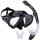 Supertrip Scuba Diving Snorkeling Freediving Mask Snorkel Set Black