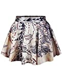 BUYEONLINE Womens Digital Print Stretchy Flared Pleated Mini Skirt One Size,19