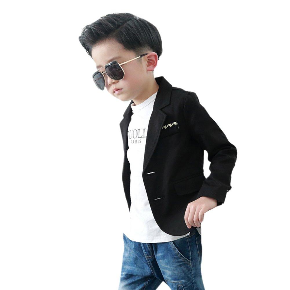 Uwback Boys' Fashion Blazers Casual Jackets Black CN 140