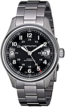 Hamilton Khaki Field Titanium Black Dial Mens Automatic Watch