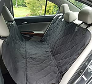 Pet Seat Cover for Dogs Deluxe Heavy Duty Quilted Waterproof Non Slip Hammock Option Machine Washable for Cars Trucks SUV's