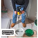 "Edward Tools Paddle Mixer 27"" for 3/8"" power drill - Industrial Paddle Mixer for paint, concrete, drywall compound and more - Speed Mixer concrete tool is ideal mixing"