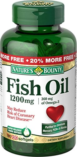 Nature's Bounty Fish Oil 1200 mg Softgels 120 ea (Pack of 11) by NAT/BOUNTY