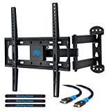 Mounting Dream MD2377 TV Wall Mount Bracket for most 26-55 Inch LED, LCD, OLED Flat Screen TV with Full Motion Articulating Arm up to VESA 400x400mm and 60 LBS with Tilt, Swivel, and Level Adjustment