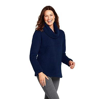 54620331763 Lands' End Women's Cozy Sherpa Fleece Pullover at Amazon Women's Coats Shop