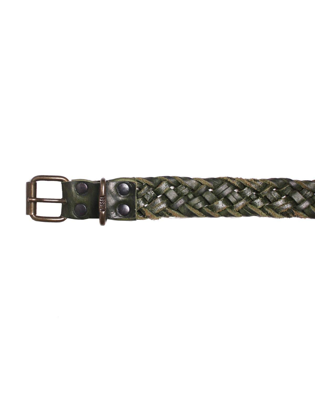 DIESEL - Leather Belt B-TRECCI - green, 85 by Diesel (Image #2)