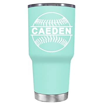 5496008d4d6 Amazon.com | TREK Baseball Personalized on Seafoam 30 oz Stainless ...