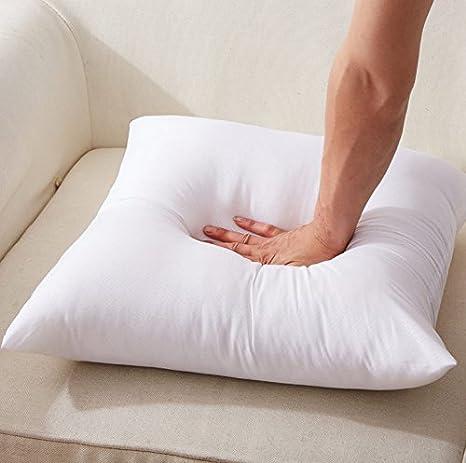 45cm x 45cm Filler Inner Full Range of Sizes Pack of 1, 18 x 18 ROHI Square Polyester Cushion Pad Inserts White