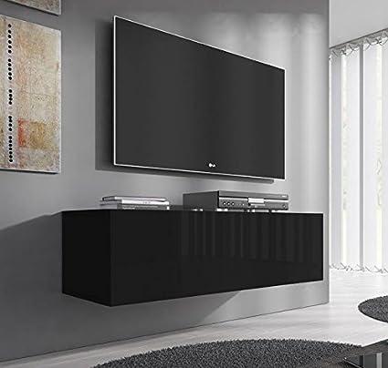 muebles bonitos Lettiemobili -Mobile TV sospeso design Forli M nero ...