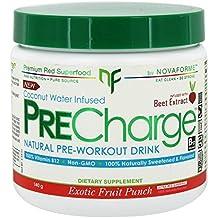 NovaForme PreCharge Natural Pre-Workout Drink Exotic Fruit Punch 140 g