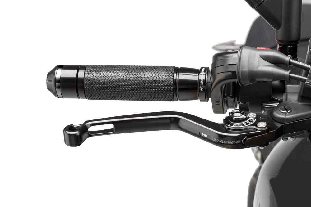 schwarz starr Set Set Puig 170NN1076 170NN1076 Brems-Kupplungshebel Kawasaki Ninja 300 ABS EX300A 2013- sw VS