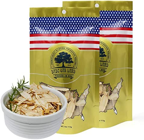 DOL American Ginseng Slice 4oz Bag 2Bags from Wisconsin Sliced Ginseng Root 113g Bag