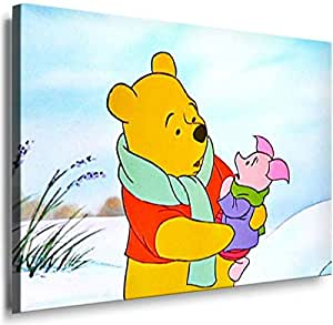 Cartoon Characters- 8004d, Printed On Canvas 100x70cm, With Wooden Frame
