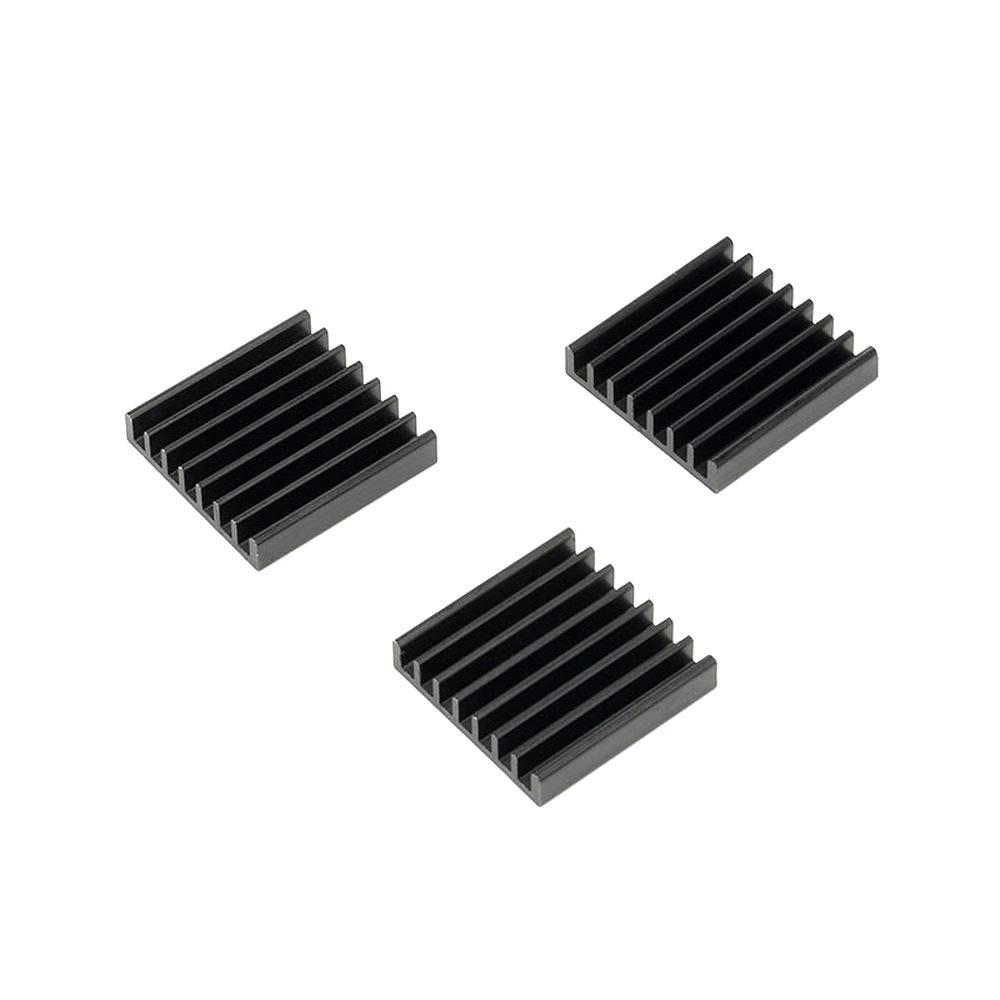 DIYElectronic 1 pc Heatsink Aluminum Radiator Cooling Fin Cooler Heat Sink for IC Chip LED Black 25255mm 25X25X5mm