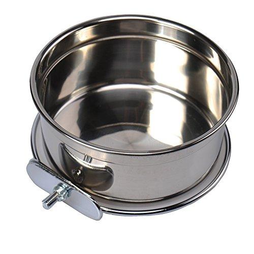 Bird Stainless Steel Cage - Stainless Steel Food Water Bowl For Pet Bird Crates Cages Coop Dog Cat Parrot Bird Rabbit Pet (Medium,125.5cm)