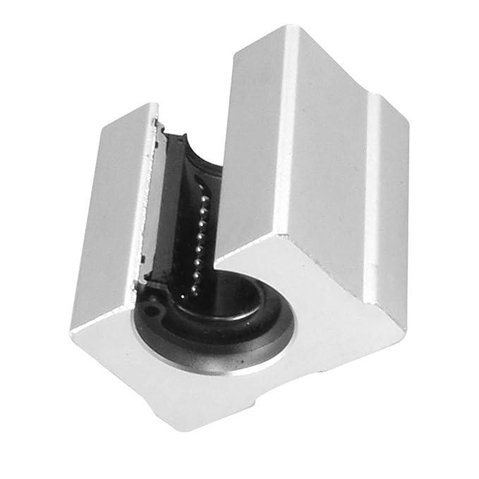 SBR16UU Polea para rodamientos Linear topincn Rodamientos a bolas para movimiento Linear de aluminio CNC