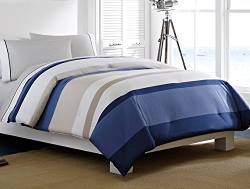 Nautica Twin Size Comforter (Nautica Grand Bank 4-Piece Cotton Bed in a Bag, Twin X-Large)