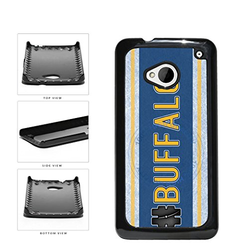 (BleuReign(TM) Hockey Team Hashtag Buffalo #Buffalo Plastic Phone Case Back Cover For HTC One M7)