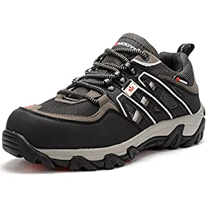 Men's Work Safety Shoes,Modyf Steel Toe Puncture Proof Footwear Industrial and Construction Shoe