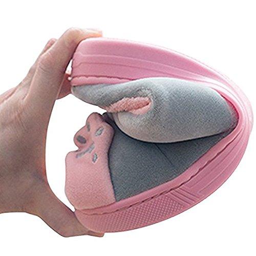 Morbida E Gatto Hibote 35 In Grigio Rosa All'usura Calda 37 Rosso Resistente Pantofola Pantofole 36 Interna Antiscivolo Confortevole Dei Invernali Cotone Cartoni Animati wxXAqzcSY