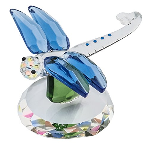 The Paragon Crystal Dragonfly - Delicate Dragonfly Figurine, Handcrafted Decorative Home Decor (Paragon Ornament)
