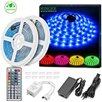 Minger LED Strip Lights Kit, Waterproof 2x5m(32.8ft in...