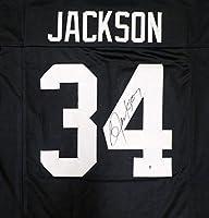 Oakland Raiders Bo Jackson Autographed Black Jersey Beckett BAS
