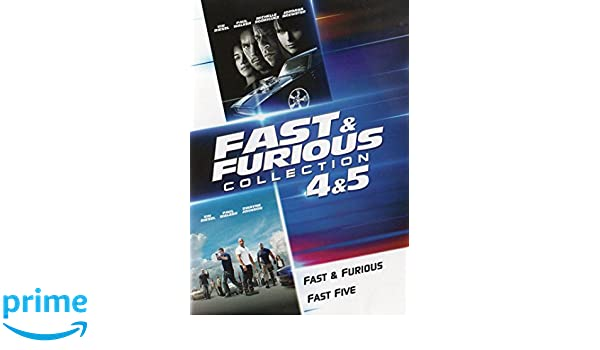 Amazon.com: Fast & Furious Collection 4 & 5: Vin Diesel, Paul Walker, Michelle Rodriguez, Tyrese Gibson, Ludacris, Justin Lin, Michael K. Ross, ...