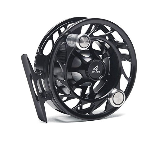 ハッチングOutdoors Finatic 4 Plus加工Fly Fishing Reel B008IJHSVE LARGE ARBOR|ブラック/シルバー ブラック/シルバー LARGE ARBOR