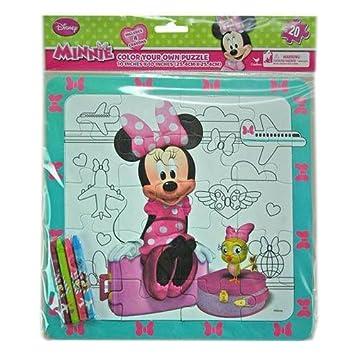 Amazon ミニー カラーリングパズル クレヨン付き 12175 ミニーマウス