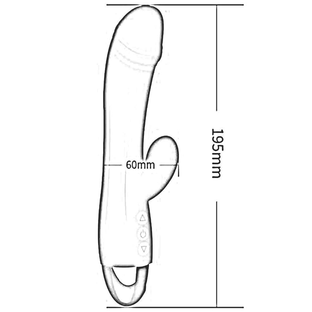 Bseack_Sex shop Barra de Estimulación vibración Carga USB Doble Cabeza Vibración Punto G Estimulación de 10 Frecuencia Juguetes Sexuales para Adultos Suministros Sexuales de Salud (Color : Red) e63531