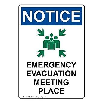 compliancesigns vertical aluminio OSHA aviso lugar de ...