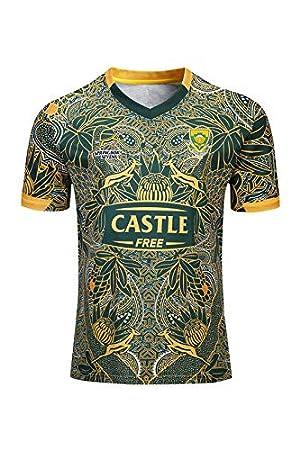 Camiseta de Entrenamiento partidarios del Equipo Local y visitante Aitry Camiseta Conmemorativa de Rugby de Sud/áfrica 100