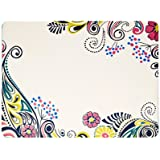 Denby 13.5 x 23 cm Cork Backed Monsoon Cosmic Placemat Set, Set of 4, Multi-Color/ Cream