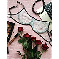 White balcony bra with black edging⇼ Teenager no foam rubber bra ⇼  Brassiere with peas 70c3ca9cf