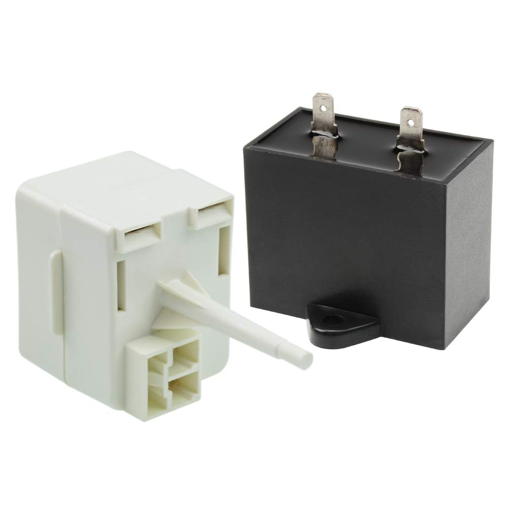 W10613606 Refrigerator Compressor Start Relay & Capacitor for Whirlpool Maytag Amana Admiral Fridge Parts Replaces w10416065 67003186 AP5787784 by AUKO