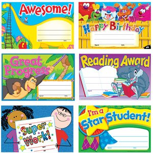 30 x School Certificates Variety Pack for Younger Children Early Years to Key Stage 1