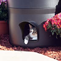 New and Improved for 2016-The Kitty Tube Gen. 3 - Outdoor Cat House with custom Pet Pillow, and Double Insulated Liner Option.