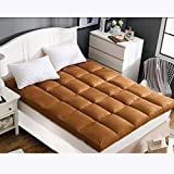 GJFLife Japanese Soft Tatami Mattress Protector Futon, Collapsible Floor Sleeping pad Topper Thickened Dormitory Bed mats-E 90x200x10cm