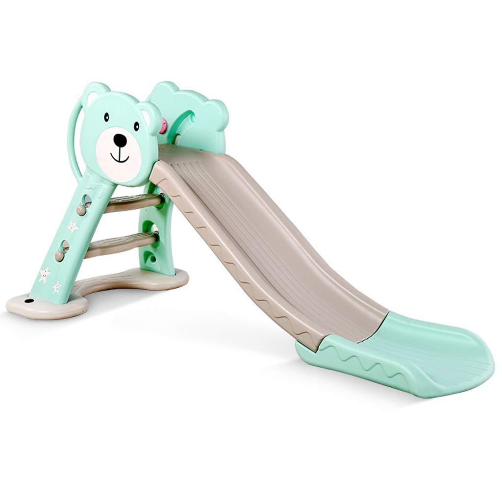 ZhaoLiRuShop Freestanding Slides Children's Slide Long Slide Children's Indoor Small Combination Slide Plastic Home Baby Folding Children's Toys (Color : Green, Size : 14381cm)