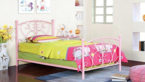 Furniture of America Delia Princess Metal Youth Bed, ()