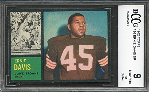 1962 topps  36 ERNIE DAVIS SP cleveland browns rookie card (CENTERED) BGS  BCCG 9a2ca279e
