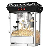 Great Northern Popcorn Company 6132 All Star GNP-850 Blk Top Classic Style Top Popper Machine, 8 oz, Black