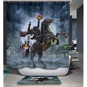 Amazon.com: Gothic Halloween Shower Curtain Crazy Horror ...