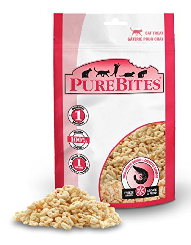 PureBites Shrimp for Cats, 0.53oz / 15g - Value Size (Treats Pure)