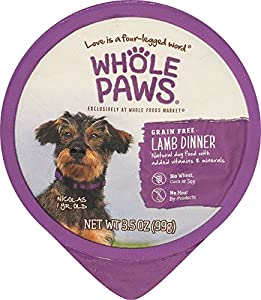 Whole Paws, Lamb Dinner, Dog Food (Grain Free), 3.5 oz